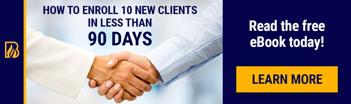 10 New Clients eBook Life Coach Certification Banner