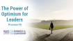 The Power of Optimism for Leaders – Promise # 5